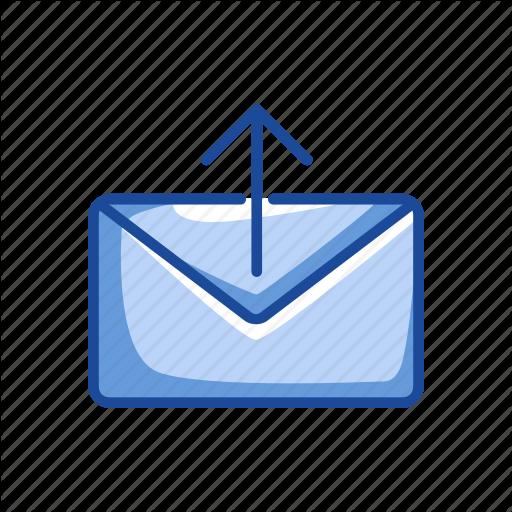 Arrow Up, Envelope, Sending Email, Sending Message Icon