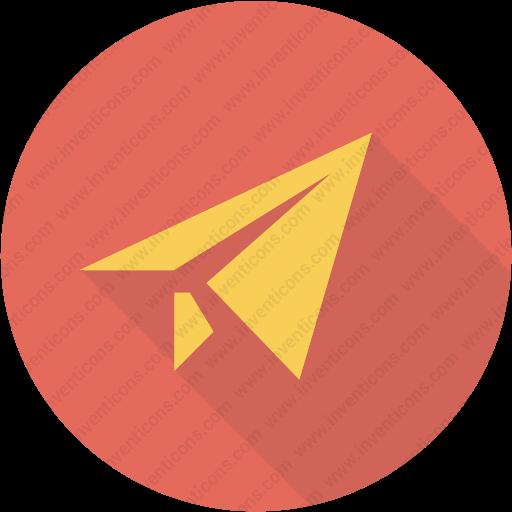 Download Message,origami,paper,plane,send Icon Inventicons