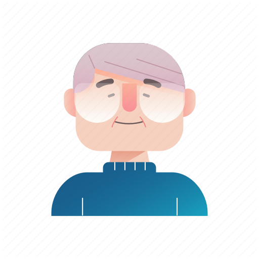 Aged, Grandfather, Male, Old Man, Retired, Retirement, Senior Icon