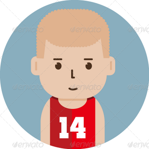 Set Of Basketball Player Avatar Flat Icons
