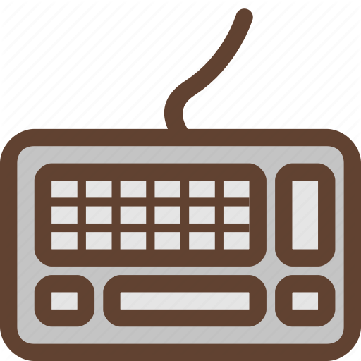Computer Keyboard, Keyboard, Peripheral Device, Type, Typing Icon