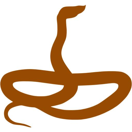 Brown Snake Icon