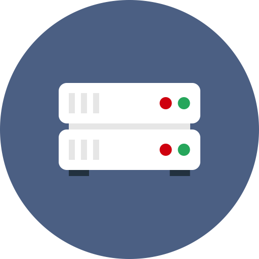 Database, Hosting, Internet, Rack, Server, Storage Icon