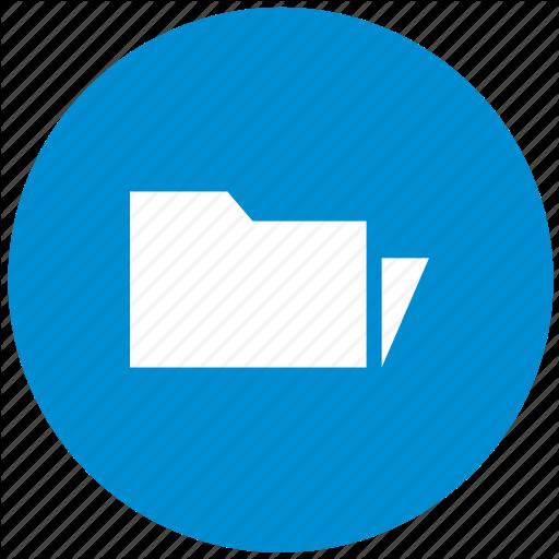 Blue, Catalog, Files, Folder, New, Round Icon