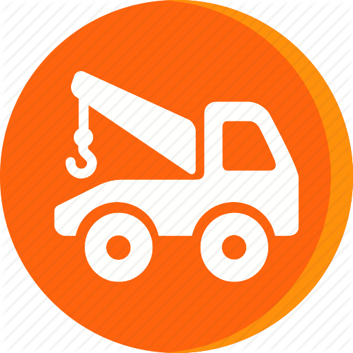 Automobile, Car, Garage, Servicing, Tow Truck, Vehicle Icon