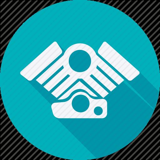 Car, Engine, Repair, Service, Transport, Transportation, Vehicle Icon