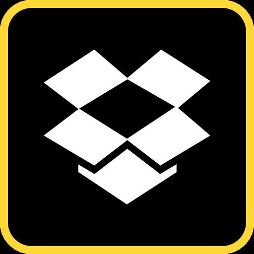 Box Glyph Black Icon