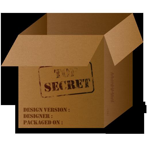 Box Top Secret Icon
