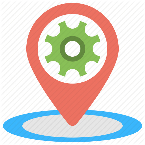 Android Gps Settings, Gear Inside Map Pin, Location Services