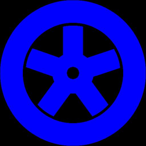 Blue Wheel Icon