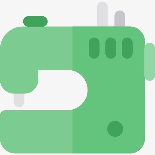 Green Sewing Machine, Sewing Machine, Green, Cartoon Png Image