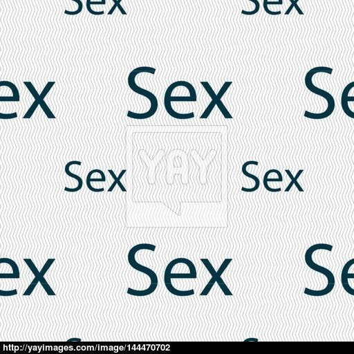 Safe Love Sign Icon Safe Sex Symbol Seamless Pattern