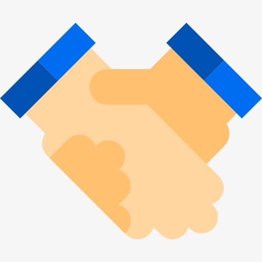 Shake Hands, Orange Cartoon Handshake, Orange, Cartoon Png Image