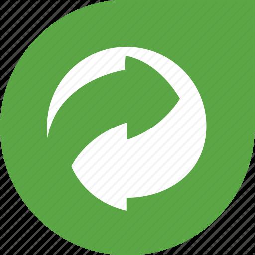 Arrows, Eco, Gree, Recycle, Shape Icon