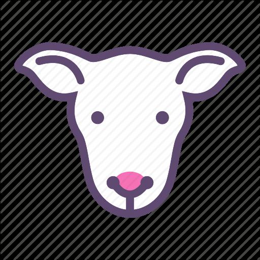 Animal, Cattle, Farm, Head, Sheep Icon