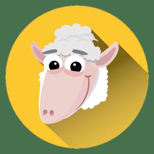Sheep Cartoon Circle Icon