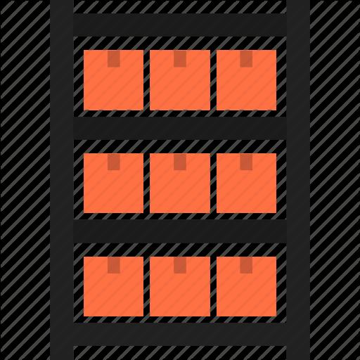 Box, Package, Product, Rack, Shelf, Storage, Warehouse Icon