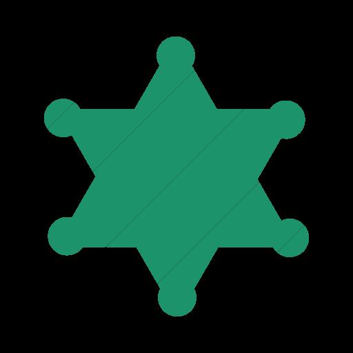 Simple Aqua Foundation Sheriff Badge Icon
