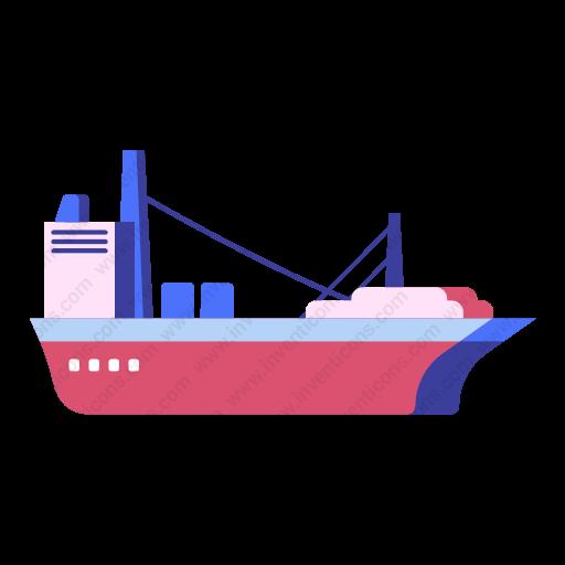 Download Cargo,ship Icon Inventicons