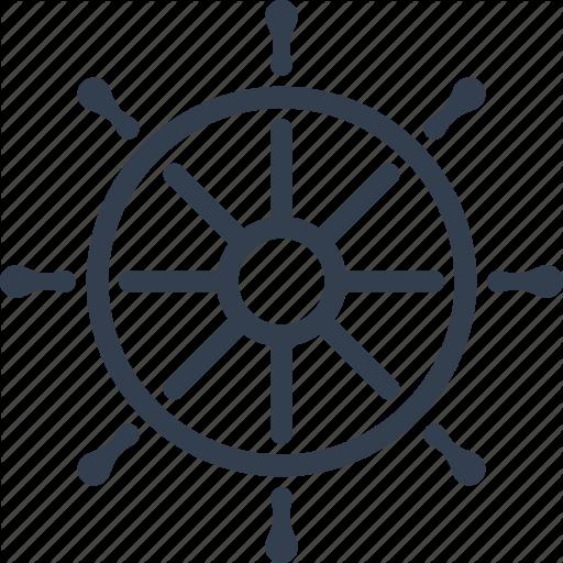 Boat, Gear, Marine, Nautical, Sea, Ship, Steering, Travel, Wheel Icon