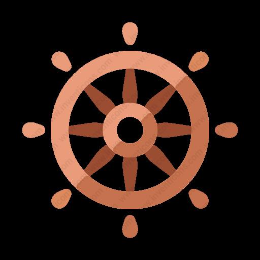 Download Ship,wheel Icon Inventicons