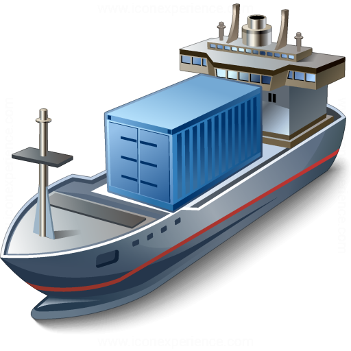 Pictures Of Container Ship Icon