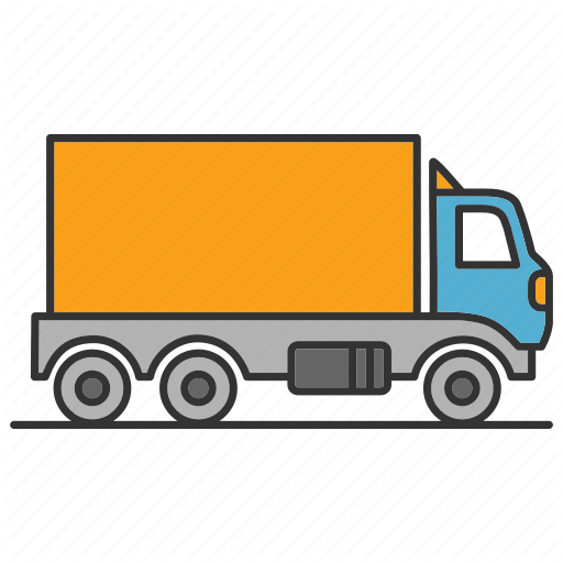 Transparent Color Shipping Container Truck Transparent Png
