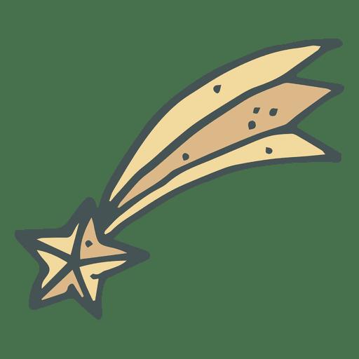 Shooting Star Hand Drawn Cartoon Icon