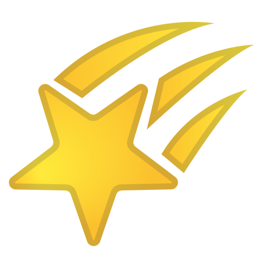 Shooting, Star Icon Free Of Noto Emoji Travel Places Icons