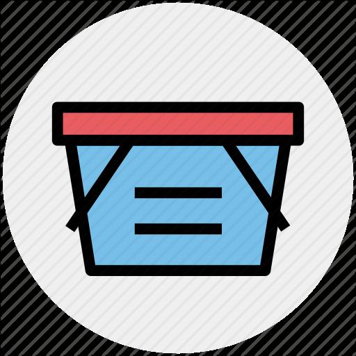 Basket, Clothes Basket, Ecommerce, Shopping, Shopping Basket Icon