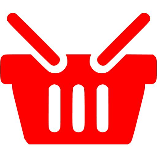 Red Shopping Basket Icon