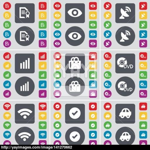 Text File, Vision, Satellite Dish, Diagram, Shopping Bag, Dvd, Wi