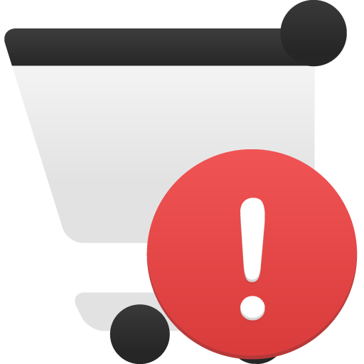 Shopping Cart Alert Icon Flatastic Iconset Custom Icon Design