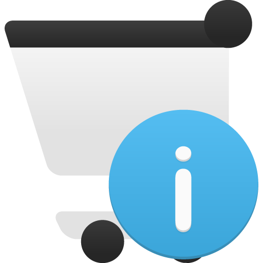 Shopping Cart Info Icon Flatastic Iconset Custom Icon Design