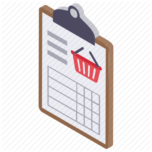 Buying List, Grocery List, List, Schedule, Shopping List Icon