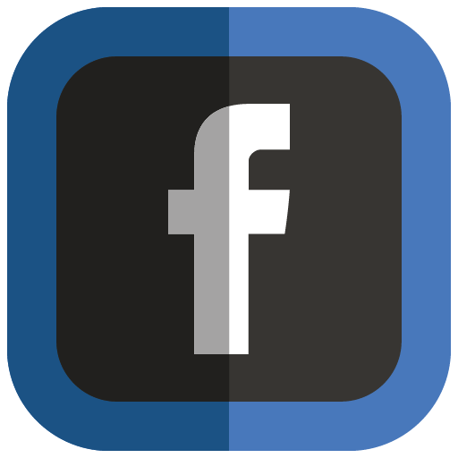 Facebook Icon Folded Social Media Iconset Uiconstock