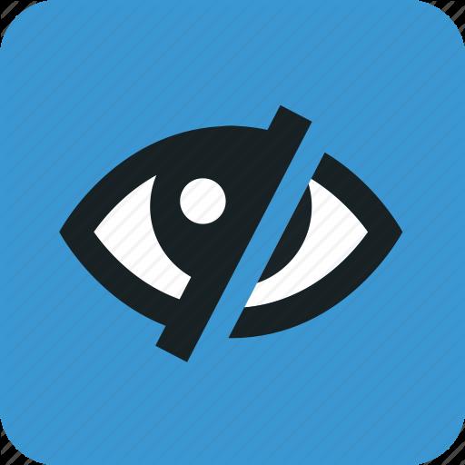 Blind, Eye, Eyes, Hidden, Look, Looking, Pupil Icon