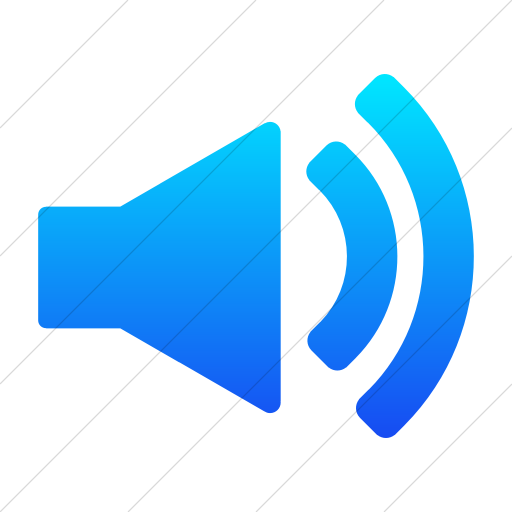 Simple Ios Blue Gradient Foundation Volume Icon