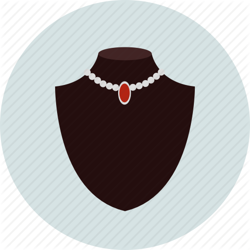 Jewelry, Jewelry Showcase, Necklace Icon