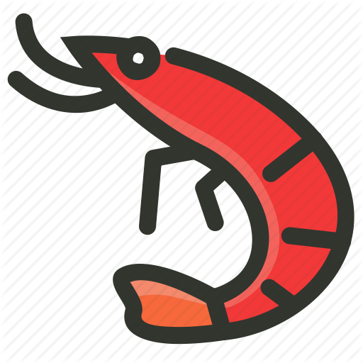 Fish, Food, Prawn, Seafood, Shellfish, Shrimp Icon