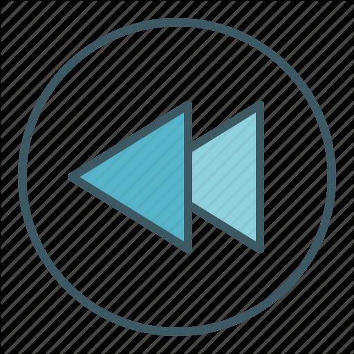 Audio, Backward, Circle, Media, Speed, Ui, Video Icon