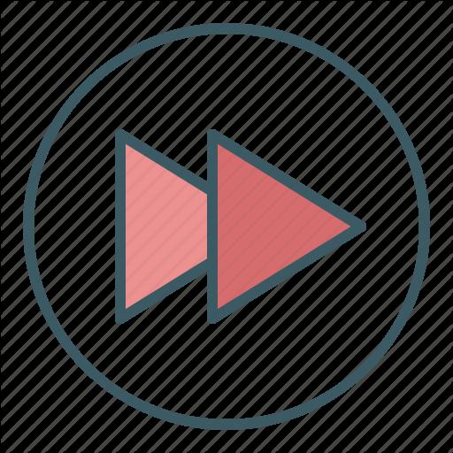 Audio, Circle, Forward, Media, Speed, Ui, Video Icon