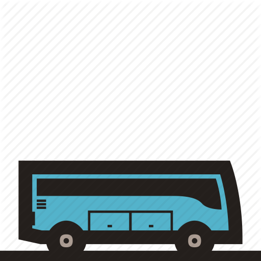 Bus, Mini Bus, Shuttle Bus Icon