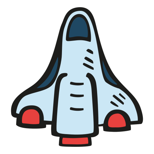 Space, Shuttle Icon Free Of Space Hand Drawn Color