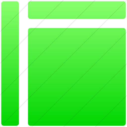 Simple Ios Neon Green Gradient Layouts Rounded Fixed