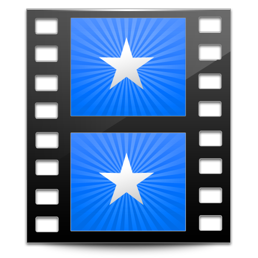 Sidebar, Movies, Blue Icon Free Of Hyperion Icons