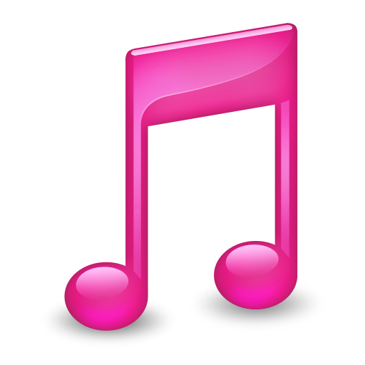 Sidebar Music Pink Icon Smooth Leopard Iconset Mcdo Design