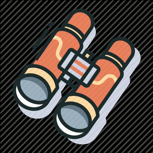 Binoculars, Scenery, Sightseeing, Travel, Vacation, View, Watch Icon