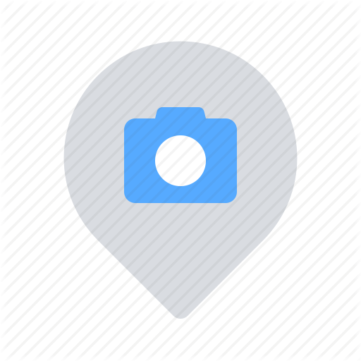 Camera, Location, Pin, Sightseeing Icon