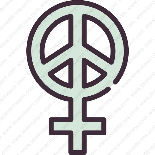 Download Gender,feminism,peace,female,woman,girl,symbol,sign Icon